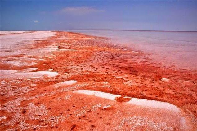 Buz mavisi rengiyle bildiğimiz Tuz Gölü'nün kızıla boyanması bilim adamlarını da harekete geçirdi.